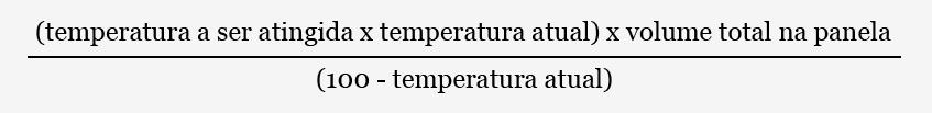 Calculo tripla decocção – fórmula